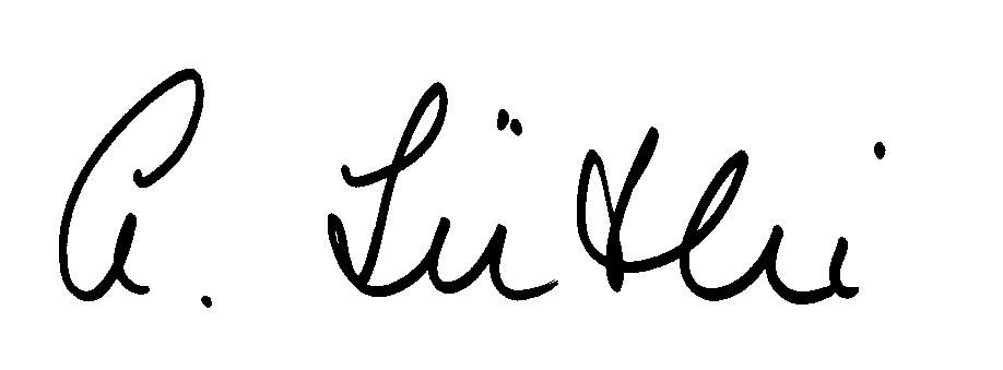 Signature SSN President (Anita Lüthi)